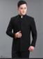 唐袭世家春秋男士立领中山装修身中华西装中老年黑色外套